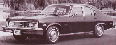 The 1974 Chevrolet Nova 4-door Sedan, part of the 1974 Chevrolet Nova line.
