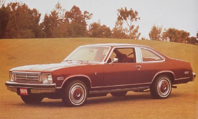 The 1975 Chevrolet Nova LN Coupe, part of the 1975 Chevrolet Nova line.