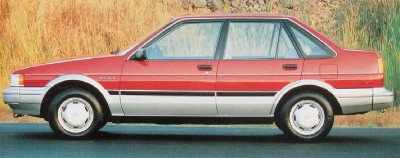 1986 Chevrolet Nova 4-door Notchback, part of the 1986 Chevrolet Nova line.