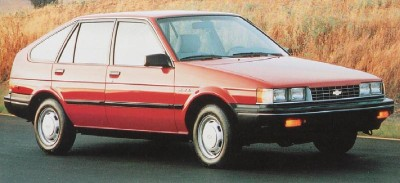 The 1986 Chevrolet Nova 4-door hatchback, part of the 1986 Chevrolet Nova line.