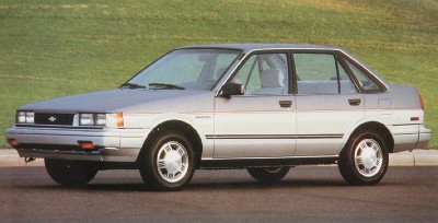 The 1987 Chevrolet Nova 4-door Sedan, part of the 1987 Chevrolet Nova line.
