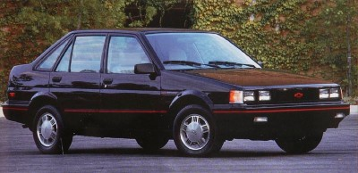 The 1988 Chevrolet Nova (new) Twin-Cam model.