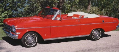 The Chevy Nova 400, part of the 1962 Chevrolet Chevy II and Nova.