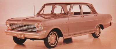 The 1964 Chevy II Nova 4-door Sedan, part of the 1964 Chevrolet Chevy II and Nova line.