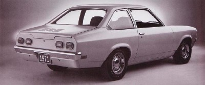 1971 Chevrolet Vega rear view