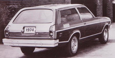 1974 Chevrolet Vega Wagon rear view