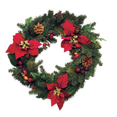 Test your Christmas tree trivia knowledge with this fact: The circular shape of a wreath is synonymous with eternity.