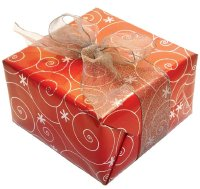 Expand your Christmas gift trivia chest: In the 1900s, gifts were wrapped in white tissue paper and red satin ribbon.
