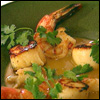Southeast Asian Coconut and Lemongrass Broth with Scallops and Shrimp