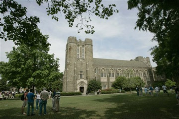The campus of Duke University in Durham, N.C.