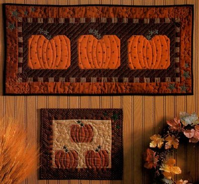 Country Pumpkin Patch Quilted Wall Hangings