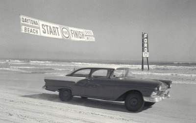 Cars used to race on the beach in Daytona.