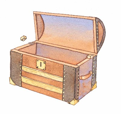 An old army trunk makes a great toy box.