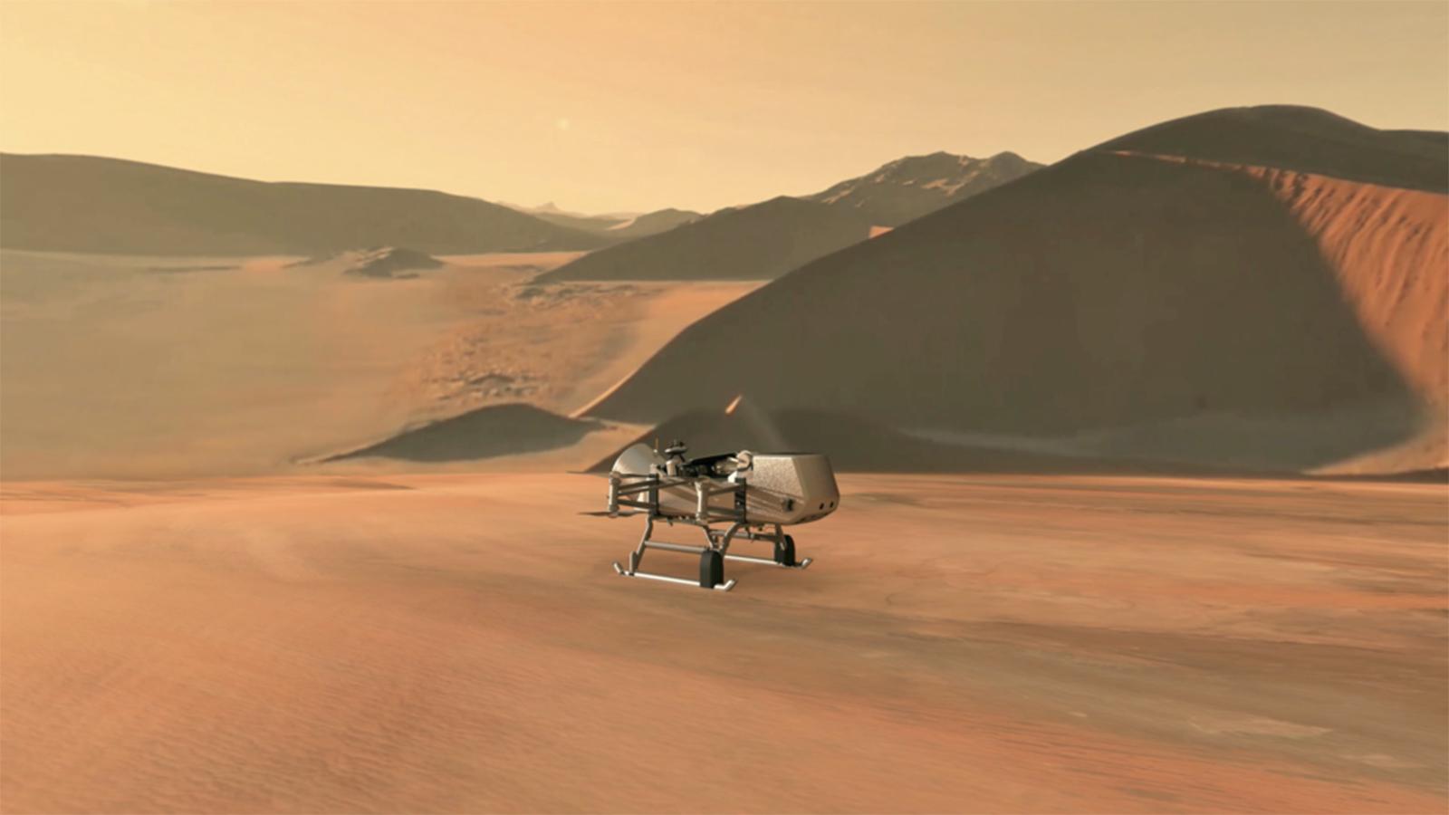 NASA's Dragonfly Rotorcraft to Explore Saturn's Giant Moon Titan
