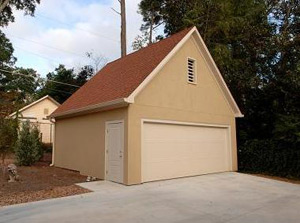 The detached garage on a newly renovated EarthCraft House.
