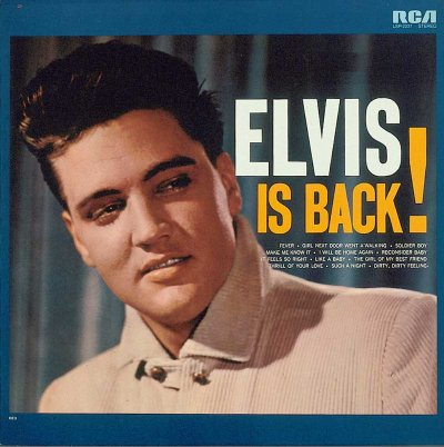 The album Elvis Is Back opened up like a book. Bonus photos were included on the inside.