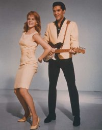 Elvis and Ann-Margret posing for Viva Las Vegas publicity shot