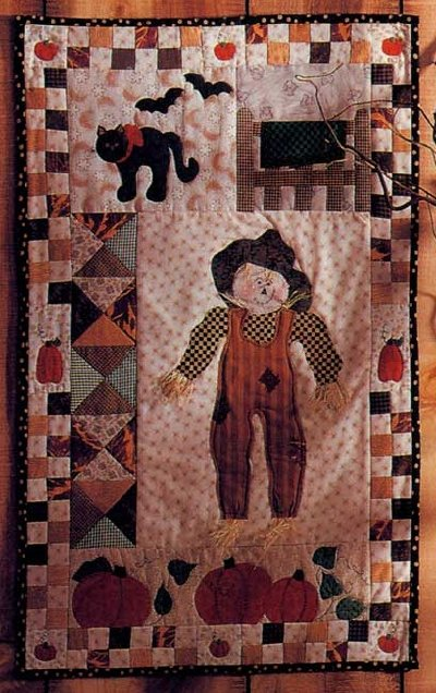 Fall Patchwork Quilted Wall Hanging