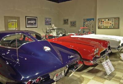 Visitors to the museum can see an extensive display of Corvettes.