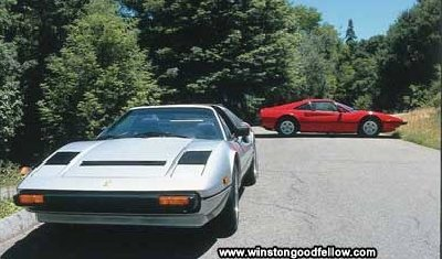 The 1984 Ferrari GTS QV and 1979 Ferrari 308 GTB.