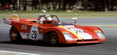 The Ferrari 312 P S had an open body.
