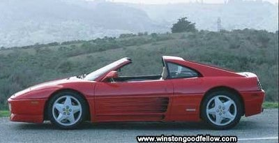 The 1990 Ferrari 348ts.