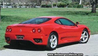 Rear view of the 2000 Ferrari 360 Modena.