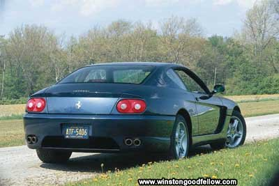 Rear view of the 1995 Ferrari 456 GT.