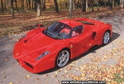 The 2003 Ferrari Enzo.