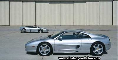 The 1995 Ferrari F355 Spider and 1997 Ferrari F355 Berlinetta.