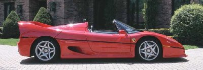 Another view of the 1995 Ferrari F50.