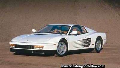The 1990 Ferrari Testarossa.