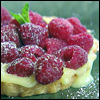 Filo Lemon Curd Tarts with Fresh Raspberries