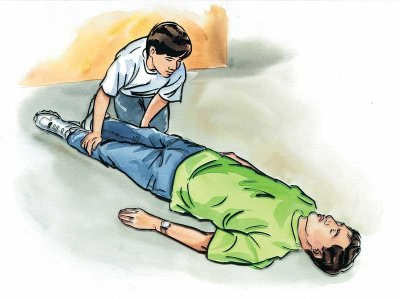 Check the victim's arms and legs for any irregularities. First Aid.