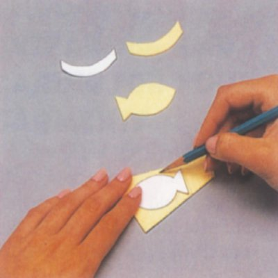 Trace and cut out fish patterns