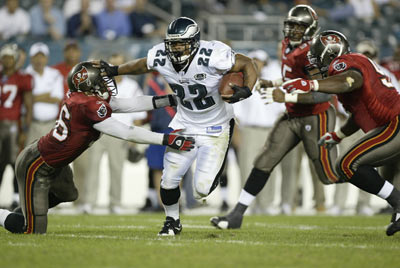 Philadelphia Eagles running back Duce Staley