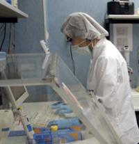 A forensic expert of the International Commission for Missing Persons works with DNA evidence.