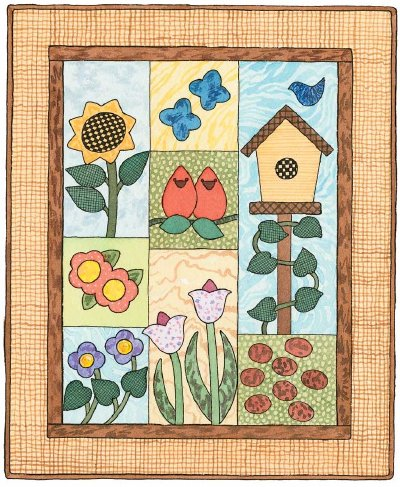 Garden of Delights Quilted Wall Hanging Pattern