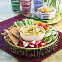 Roasted Garlic Hummus Recipe
