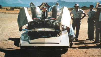 The GM Motorama Firebird III featured gull-wing doors and an abundance of fins.
