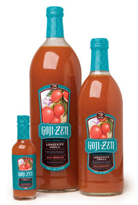 Goji berry fruit drink.