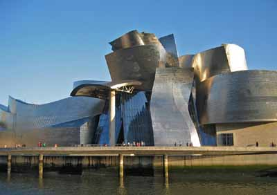 Once known for shipbuilding, Bilbao, Spain is now famous for the futuristic Guggenheim Museum.