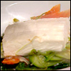 Halibut Baked in Foil with Carrots, Leeks and Zucchini