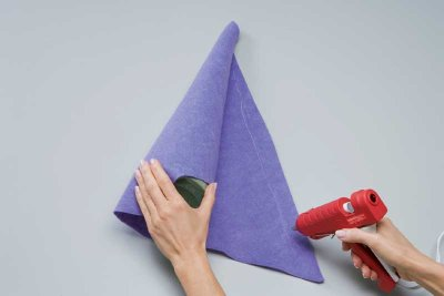 Wrap and glue the felt to the cone.