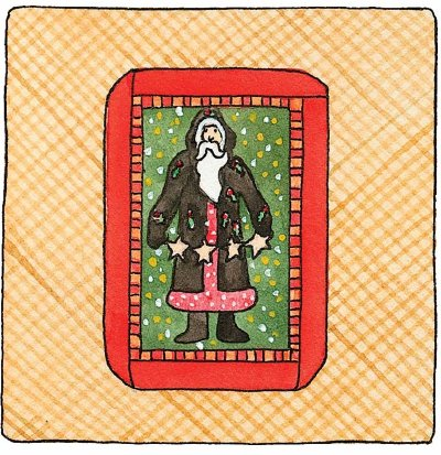 Happy Holidays Quilted Card Holder