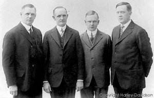 William Davidson, Walter Davidson, Arthur Davidson and William Harley