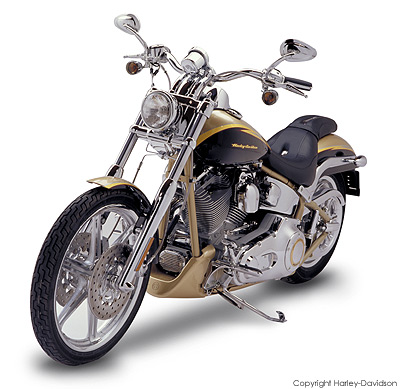 a 2003 Harley Screamin' Eagle Softail Deuce