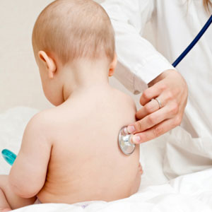 baby with doctor