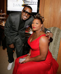 Kanye West and Queen Latifah