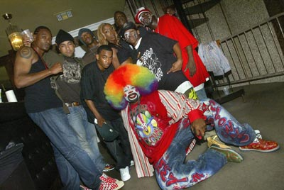 krump dancers and a clown